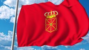 Drapeau de ondulation de la Navarre la communauté autonome en Espagne illustration libre de droits