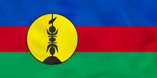 Drapeau de ondulation de la Nouvelle-Calédonie Texture de fond de drapeau national de la Nouvelle-Calédonie illustration libre de droits