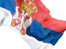 Drapeau de ondulation de la Serbie illustration stock