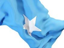 Drapeau de ondulation de la Somalie illustration libre de droits