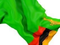Drapeau de ondulation de la Zambie illustration libre de droits