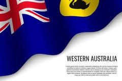 drapeau de ondulation sur le fond blanc illustration libre de droits