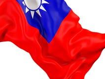 Drapeau de ondulation de Taïwan illustration libre de droits
