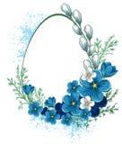 Drapeau de Pâques avec des fleurs de source Images libres de droits