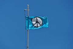 Drapeau de paix Photographie stock