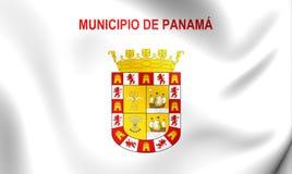 Drapeau de Panamá City Photographie stock