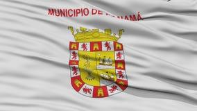 Drapeau de Panamá City de plan rapproché, Panama Images stock