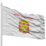 Drapeau de Panamá City sur le mât de drapeau Photos libres de droits