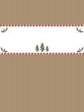 Drapeau de papier de Noël Photographie stock libre de droits