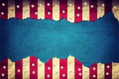 Drapeau de papier des Etats-Unis déchiré par grunge Photographie stock libre de droits