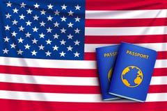 Drapeau 01 de passeport illustration de vecteur