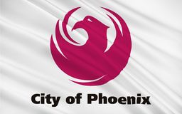 Drapeau de Phoenix - Arizona capital, Etats-Unis illustration stock