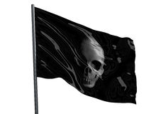Drapeau de pirate de crâne Photos libres de droits