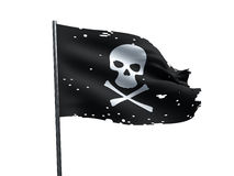 Drapeau de pirate de crâne Photo stock