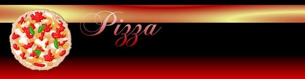 Drapeau de pizza Photo stock