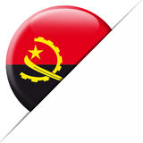 Drapeau de poche de l'Angola Images stock