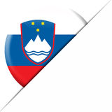 Drapeau de poche de la Slovénie Photo stock