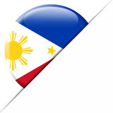 Drapeau de poche de Philippines Image stock