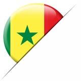 Drapeau de poche du Sénégal Photographie stock