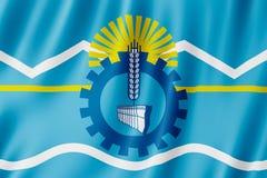 Drapeau de province de Chubut, Argentine Photographie stock libre de droits