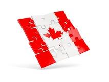 Drapeau de puzzle de Canada sur le blanc illustration libre de droits