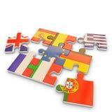 Drapeau de puzzle de l'Europe illustration de vecteur