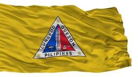 Drapeau de Quezon City, Philippines, d'isolement sur le fond blanc illustration de vecteur