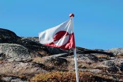 Drapeau de région du Groenland, l'Europe Photos libres de droits