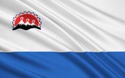 Drapeau de région du Kamtchatka, Fédération de Russie Illustration Libre de Droits