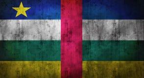 Drapeau de République Centrafricaine chiffonné par grunge rendu 3d Photographie stock libre de droits