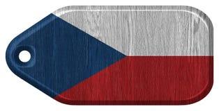 Drapeau de République Tchèque illustration stock