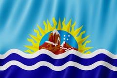 Drapeau de Santa Cruz Province, Argentine Image libre de droits