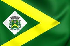 Drapeau de sao Paulo State, Brésil de ville d'Oeste de ` de Santa Barbara d Images libres de droits