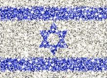 Drapeau de scintillement de l'Israël Images libres de droits