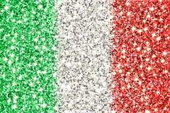 Drapeau de scintillement de l'Italie Photographie stock libre de droits