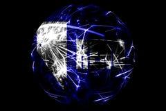 Drapeau de scintillement de Reno abstrait, Nevada Concept américain de vacances de boule de Noël d'isolement sur le fond noir illustration libre de droits