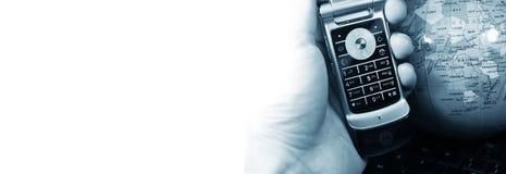 Drapeau de télécommunication mondiale image libre de droits