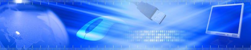 Drapeau de technologie Image libre de droits