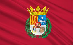 Drapeau de Teruel - une ville en Espagne photos libres de droits