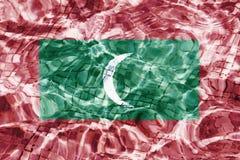 Drapeau de texture des Maldives images libres de droits