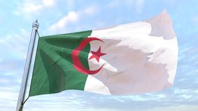 Drapeau de tissage du pays Algérie illustration libre de droits