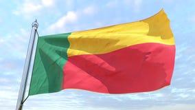 Drapeau de tissage du pays Bénin illustration libre de droits