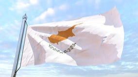 Drapeau de tissage du pays Chypre illustration libre de droits