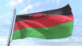 Drapeau de tissage du pays Malawi illustration libre de droits