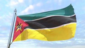 Drapeau de tissage du pays Mozambique photo stock