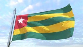 Drapeau de tissage du pays Togo illustration de vecteur