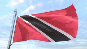 Drapeau de tissage du pays Trinidad-et-Tobago photo stock