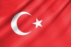 Drapeau de tissu de la Turquie Image libre de droits