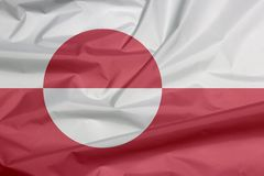 Drapeau de tissu du Groenland Pli de fond de drapeau du Groenland illustration de vecteur