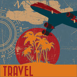 Drapeau de Travell Photos libres de droits